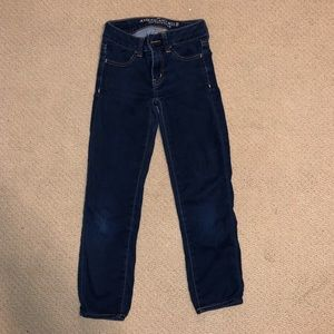 American Eagle Capri Jegging Jeans Dark Blue 0